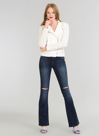 People By Fabrika Flare Fit Jean Pantolon Mavi